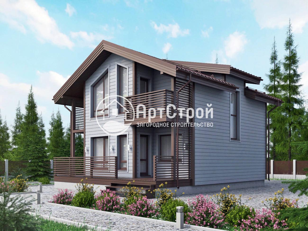 Проект «ГРАСТЕН», дом площадью 121 м2