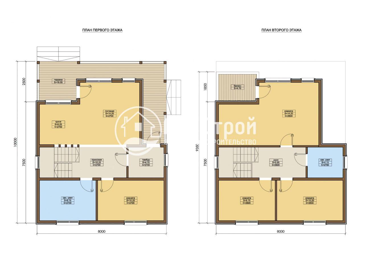 План проекта «ГРАСТЕН», дом площадью 121 м2